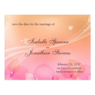 Dreams in Pink Wedding Save the Date Postcard