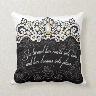 Dreams Into Plans Throw Pillow