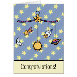 Dreams of Space Mobile Greeting Card
