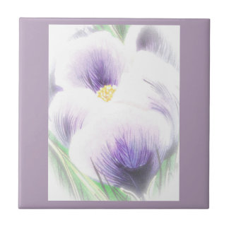 Dreams of Spring Crocus Tile