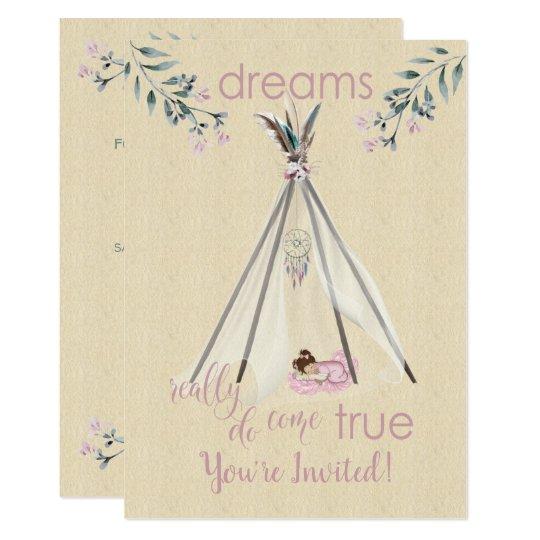 Dreams Really Do Come True Boho Tipi DreamCatcher Card