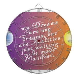 Dreams to Realities Quote dartboard