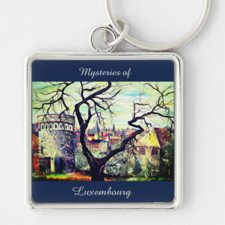 Dreamscape Luxembourg bohemian city Key Ring