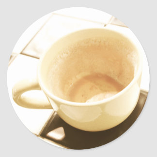 Dreamt Coffee Classic Round Sticker