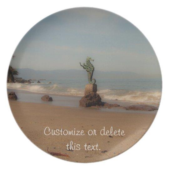 Dreamy Beach Scene; Customisable Plate