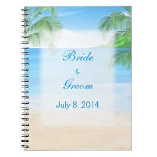 Dreamy Beach Wedding Guest Book Note Books