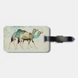 Dreamy Blue Camels  Luggage Tag