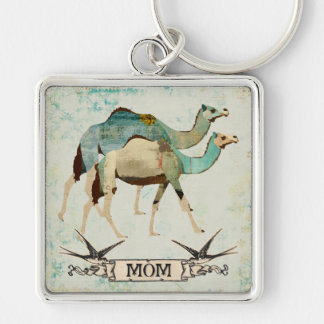 Dreamy Blue Camels Mom  Keychain