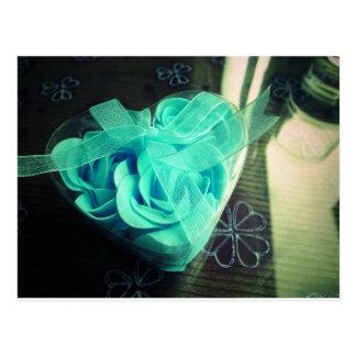 Dreamy blue roses postcard
