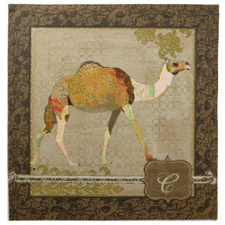 Dreamy Camel Monogram Napkin