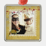 Dreamy Camel Vintage Gold Photo Ornament