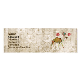Dreamy Camel White Vintage Business Card Tag