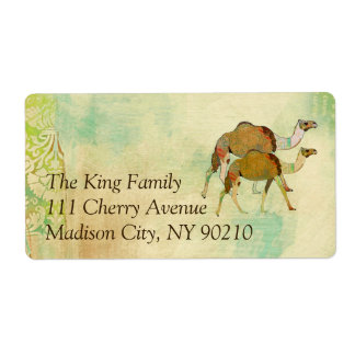 Dreamy Camels Address   Label Shipping Label