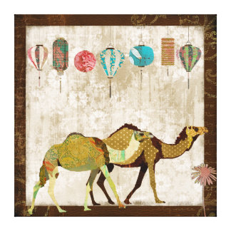 Dreamy Camels Journey Canvas Art