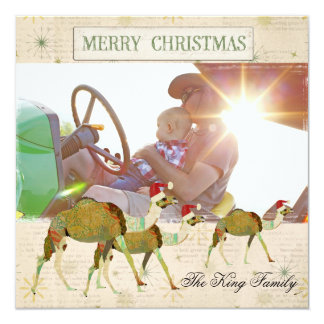 Dreamy Camels Snowflake Christmas Photo Card 13 Cm X 13 Cm Square Invitation Card