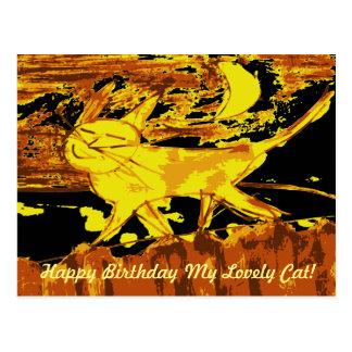 Dreamy Cat Happy Birthday Cards