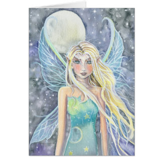 Dreamy Celestial Fairy Card by Molly Harrison