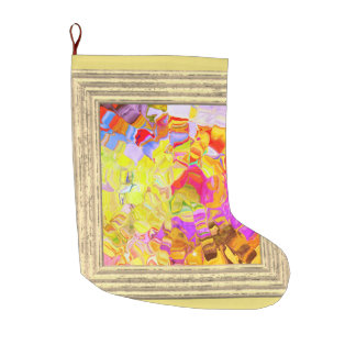 Dreamy Colorful Abstract Large Christmas Stocking