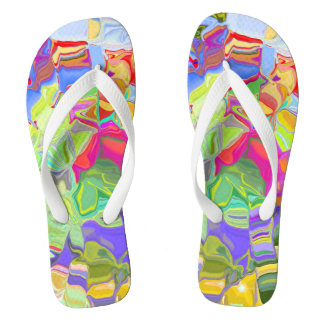 Dreamy Colorful Abstract Thongs