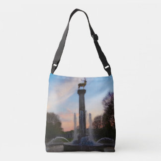Dreamy Deer Fountain (Berlin Germany) Print Bag