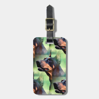 Dreamy Doberman Pinscher Face Painting Bag Tag