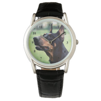 Dreamy Doberman Pinscher Face Painting Wrist Watches