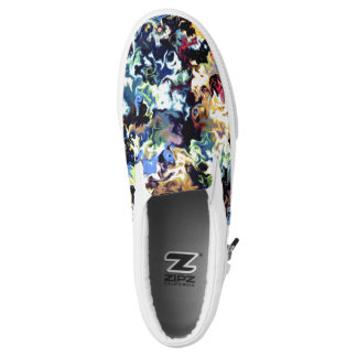dreamy fiery marble pattern printed shoes