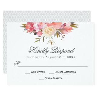 Dreamy Floral Watercolor Bouquet RSVP Card
