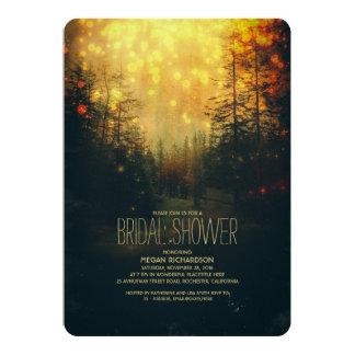 Dreamy Forest String Lights Trees Bridal Shower 13 Cm X 18 Cm Invitation Card
