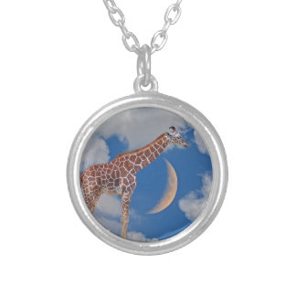 Dreamy Giraffe Silver Plated Necklace