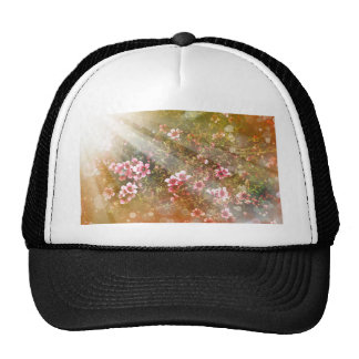 dreamy girly floral nature photo lovely art decor mesh hat