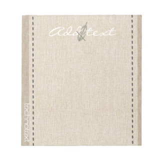 Dreamy Gold Cello Music Linen Look Add Text Notepad