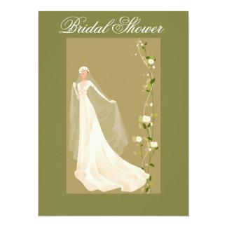 Dreamy Green Bridal Shower Invitation