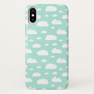 Dreamy heaven with white clouds phone case