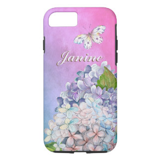 Dreamy Lilac Hydrangea Blooms iPhone 8/7 Case