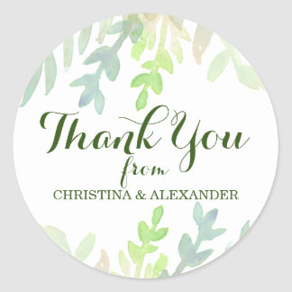 Dreamy Meadow Thank You Classic Round Sticker