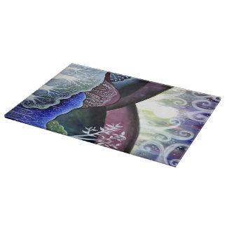 Dreamy Moonlit Landscape Cutting Board