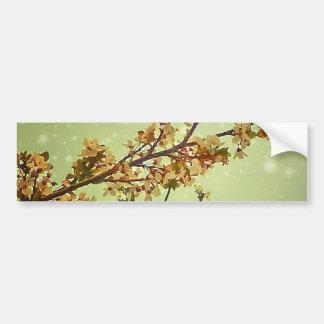 Dreamy Nature Motif Background Bumper Sticker