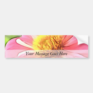 Dreamy Pink Dahlia Bumper Sticker