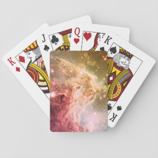 Dreamy Pink Orange Ombre Beautiful Nebula Playing Cards