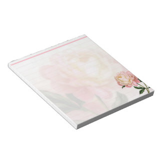 Dreamy pink rose notepad
