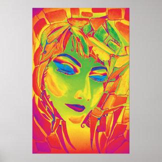 Dreamy Psychedelic Utopian Girl Poster