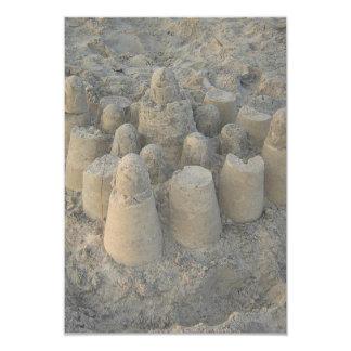 dreamy sandcastle beach wedding card