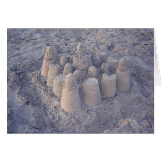 dreamy sandcastle card