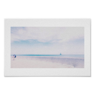 Dreamy Sea Point Cape Town Ship Couple Poster