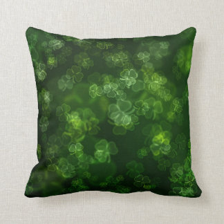 Dreamy Shamrocks Abstract Throw Pillow