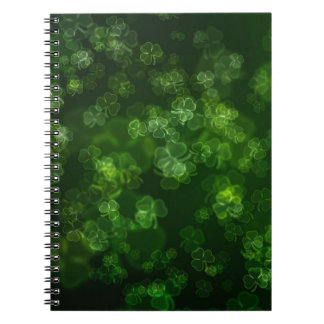 Dreamy Shamrocks Abstract Spiral Notebook