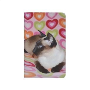 Dreamy Siamese Cat Hearts Journal