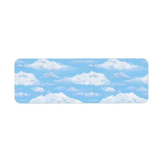 Dreamy Sky Return Address Label