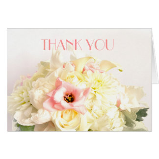 Dreamy Sweet Bouquet Thank you Greeting Cards